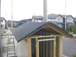 物置 DIY 屋根