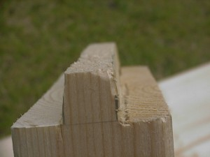 物置 DIY 手作りドア 木殺し