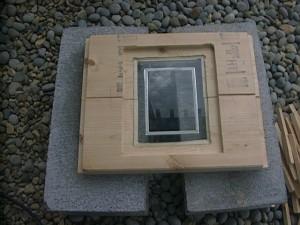 物置 DIY 手作りドア 窓