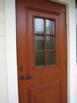 ドアの塗装